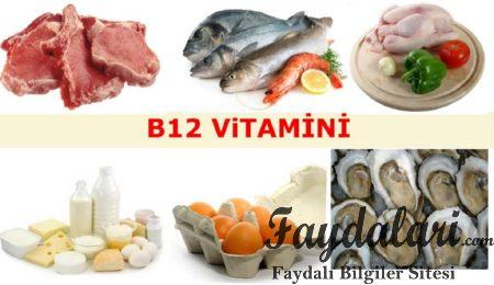 B12 vitamininin yararları